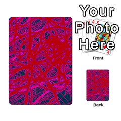 Red Neon Multi-purpose Cards (rectangle)