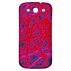 Red Neon Samsung Galaxy S3 S Iii Classic Hardshell Back Case by Valentinaart