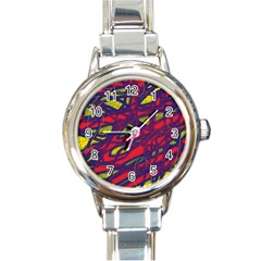 Abstract High Art Round Italian Charm Watch by Valentinaart
