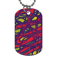 Abstract High Art Dog Tag (one Side) by Valentinaart