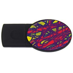 Abstract High Art Usb Flash Drive Oval (2 Gb)  by Valentinaart