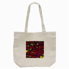Abstract High Art Tote Bag (cream) by Valentinaart