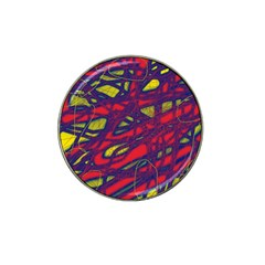 Abstract High Art Hat Clip Ball Marker (4 Pack) by Valentinaart