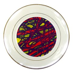 Abstract High Art Porcelain Plates by Valentinaart