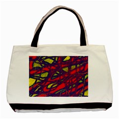 Abstract High Art Basic Tote Bag by Valentinaart