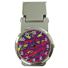 Abstract High Art Money Clip Watches by Valentinaart