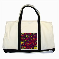 Abstract High Art Two Tone Tote Bag by Valentinaart