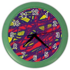 Abstract High Art Color Wall Clocks by Valentinaart
