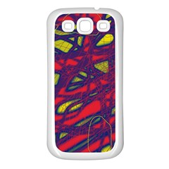 Abstract High Art Samsung Galaxy S3 Back Case (white) by Valentinaart