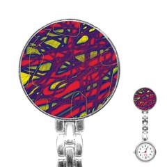 Abstract High Art Stainless Steel Nurses Watch by Valentinaart