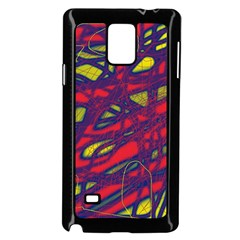 Abstract High Art Samsung Galaxy Note 4 Case (black) by Valentinaart