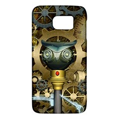 Steampunk, Awesome Owls With Clocks And Gears Galaxy S6 by FantasyWorld7