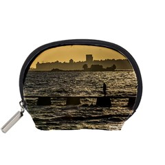 River Plater River Scene At Montevideo Accessory Pouches (small)  by dflcprints