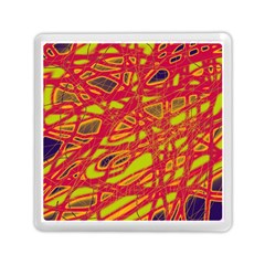 Orange Neon Memory Card Reader (square)  by Valentinaart