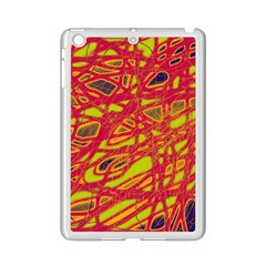 Orange Neon Ipad Mini 2 Enamel Coated Cases by Valentinaart