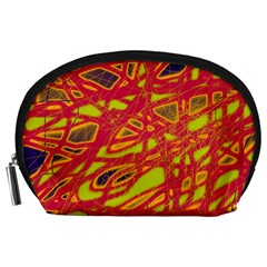 Orange Neon Accessory Pouches (large)  by Valentinaart
