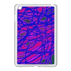 Blue Apple Ipad Mini Case (white) by Valentinaart