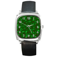 Green  Square Metal Watch by Valentinaart