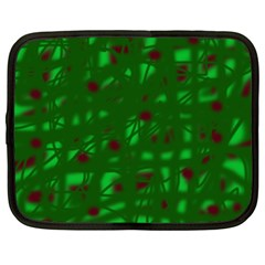 Green  Netbook Case (large) by Valentinaart