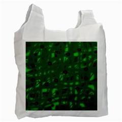 Green  Recycle Bag (two Side)  by Valentinaart