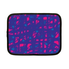 Blue And Pink Neon Netbook Case (small)  by Valentinaart
