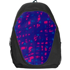 Blue And Pink Neon Backpack Bag by Valentinaart