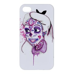 Alice Sugar Skull Apple Iphone 4/4s Premium Hardshell Case by lvbart