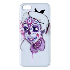 Alice Sugar Skull Apple Iphone 5 Premium Hardshell Case by lvbart