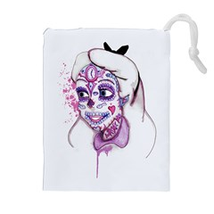 Alice Sugar Skull Drawstring Pouches (extra Large) by lvbart