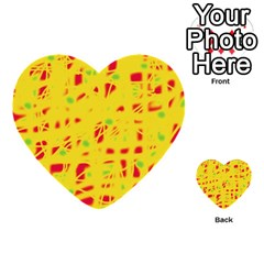 Yellow And Red Multi Purpose Cards (heart)  by Valentinaart