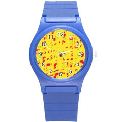 Yellow And Red Round Plastic Sport Watch (s) by Valentinaart
