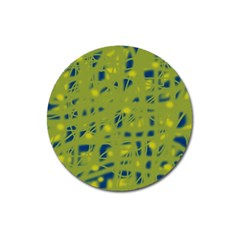 Green And Blue Magnet 3  (round) by Valentinaart