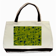 Green And Blue Basic Tote Bag (two Sides) by Valentinaart