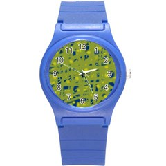Green And Blue Round Plastic Sport Watch (s) by Valentinaart