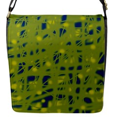 Green And Blue Flap Messenger Bag (s)