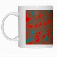 Red And Brown White Mugs by Valentinaart