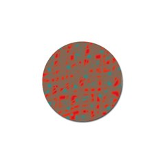 Red And Brown Golf Ball Marker (10 Pack) by Valentinaart