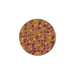Brown And Purple Golf Ball Marker (10 Pack) by Valentinaart