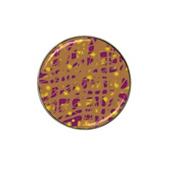 Brown And Purple Hat Clip Ball Marker by Valentinaart