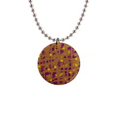 Brown And Purple Button Necklaces