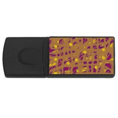 Brown And Purple Usb Flash Drive Rectangular (4 Gb)  by Valentinaart