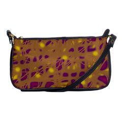 Brown And Purple Shoulder Clutch Bags by Valentinaart