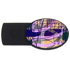 Abstract High Art By Moma Usb Flash Drive Oval (2 Gb)  by Valentinaart