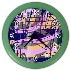 Abstract High Art By Moma Color Wall Clocks by Valentinaart