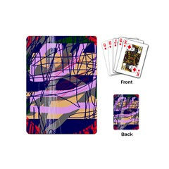 Abstract High Art By Moma Playing Cards (mini)  by Valentinaart