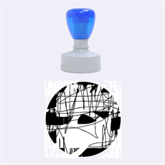 Abstract High Art By Moma Rubber Round Stamps (medium)