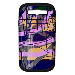 Abstract High Art By Moma Samsung Galaxy S Iii Hardshell Case (pc+silicone) by Valentinaart