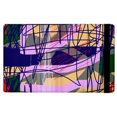 Abstract High Art By Moma Apple Ipad 2 Flip Case by Valentinaart