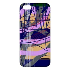 Abstract High Art By Moma Apple Iphone 5 Premium Hardshell Case by Valentinaart