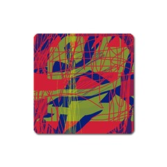 High Art By Moma Square Magnet by Valentinaart